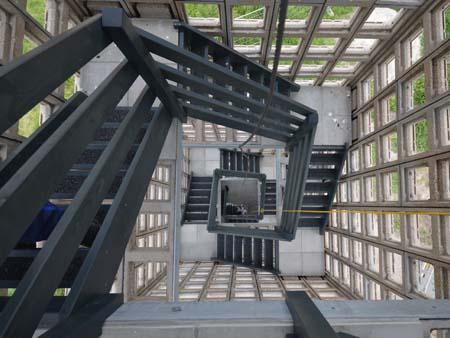 luchtwachttoren binnen Holstein Restauratie Architectuur