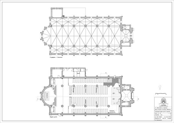 De Sint-Willibrorduskerk te Sappemeer tekening Holstein Restauratie Architectuur