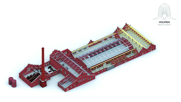 Restauratie strokartonfabriek De Toekomst II te Scheemda plan Holstein Restauratie Architectuur